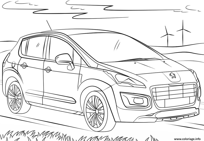 Coloriage voiture peugeot 3008 dessin - Coloriage voiture ...