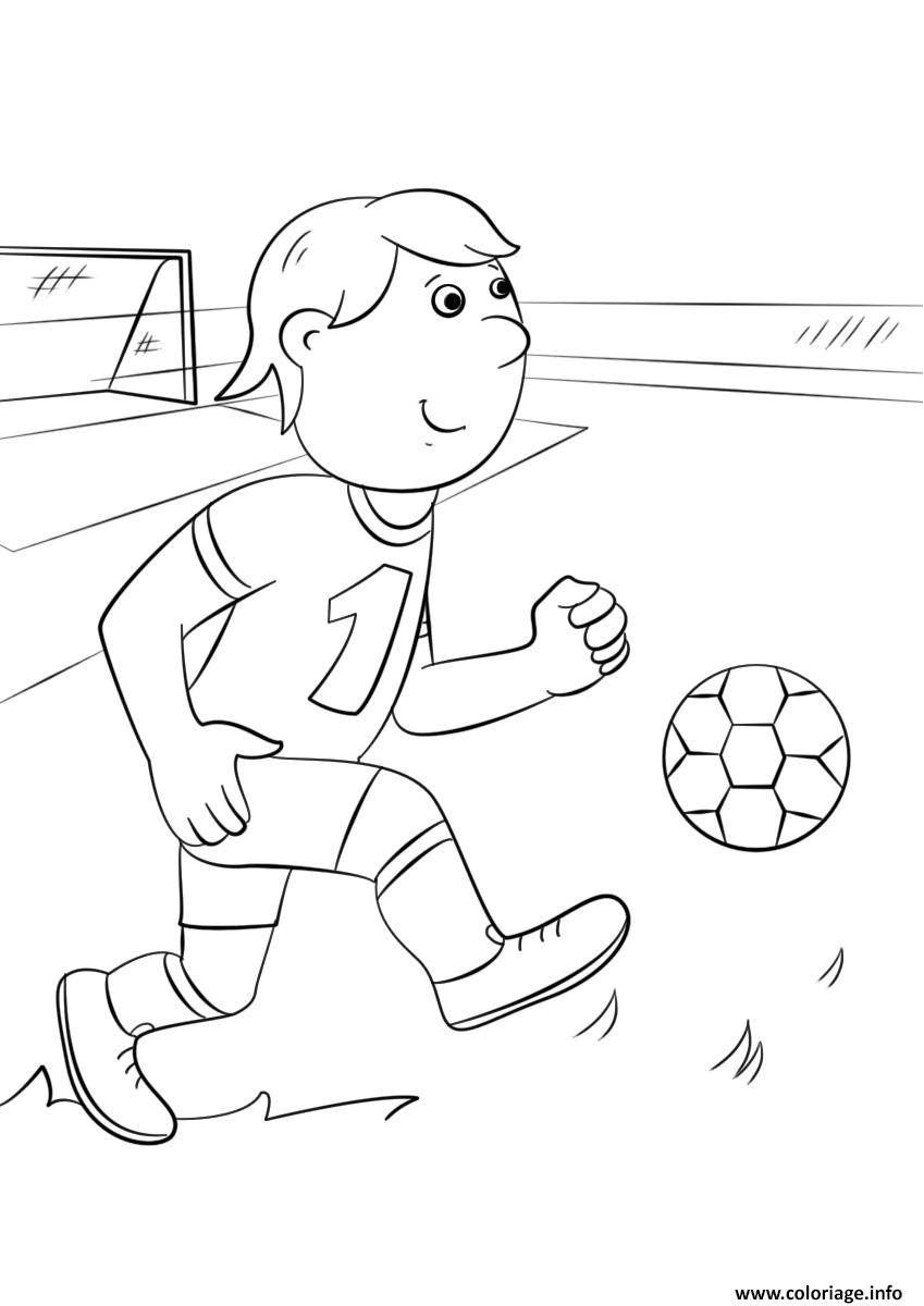 Coloriage De Foot Facile.Coloriage Foot Facile Joueur Enfant Dessin
