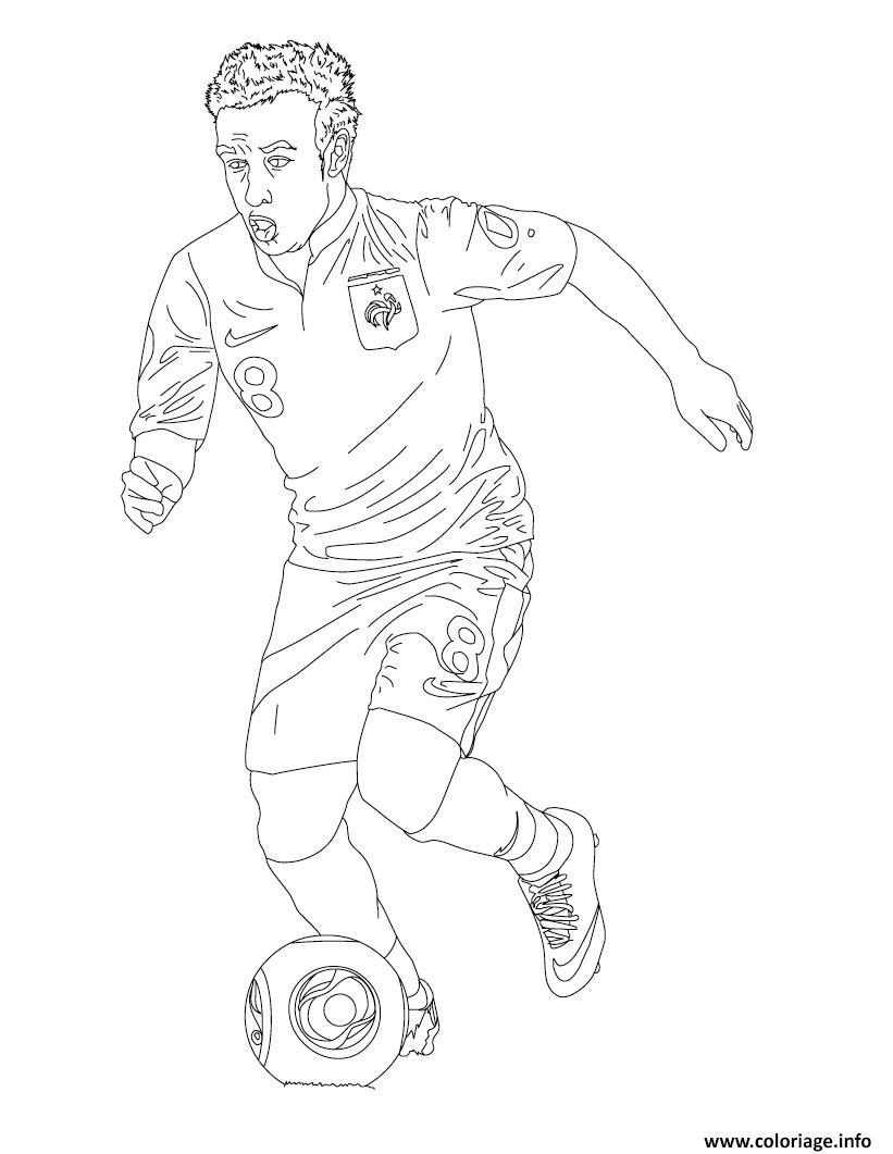 Coloriage Matthieu Valbuena Joueur De Foot France dessin