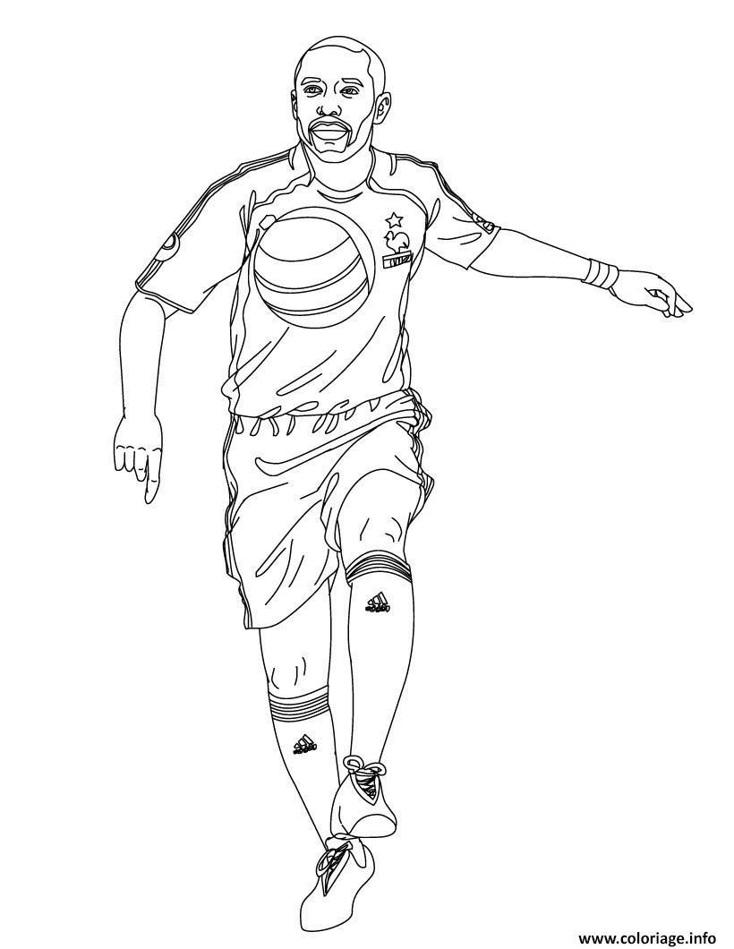 coloriage thierry henry joueur de foot france