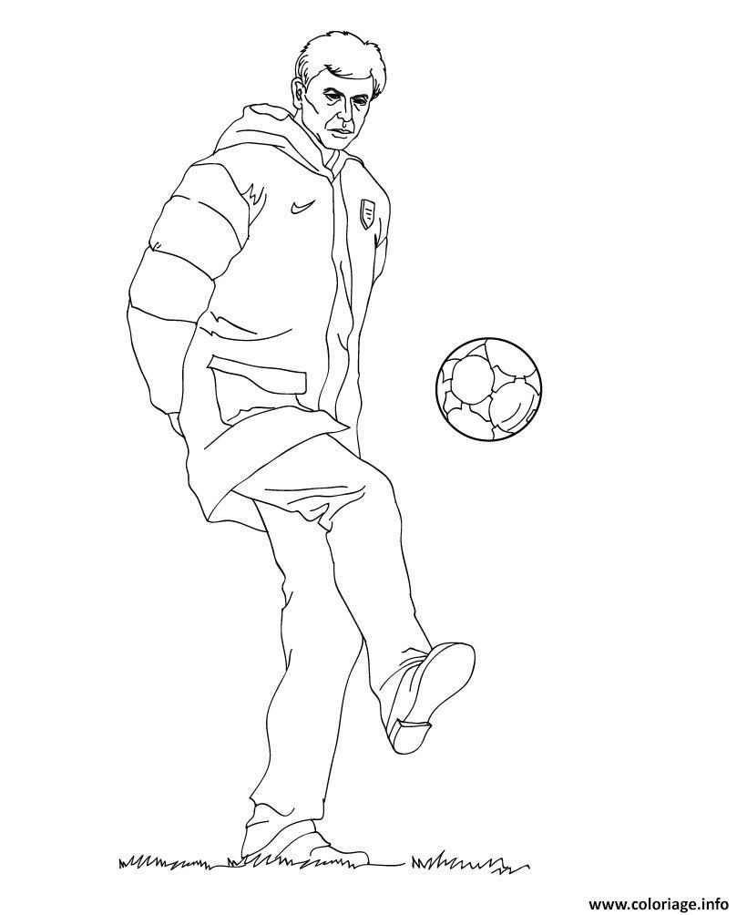 Coloriage Coach Arsene Wenger Entraineur D Arsenal Dessin Foot à ...
