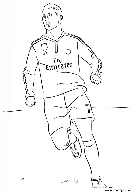 Coloriage Cristiano Ronaldo Foot Football Dessin