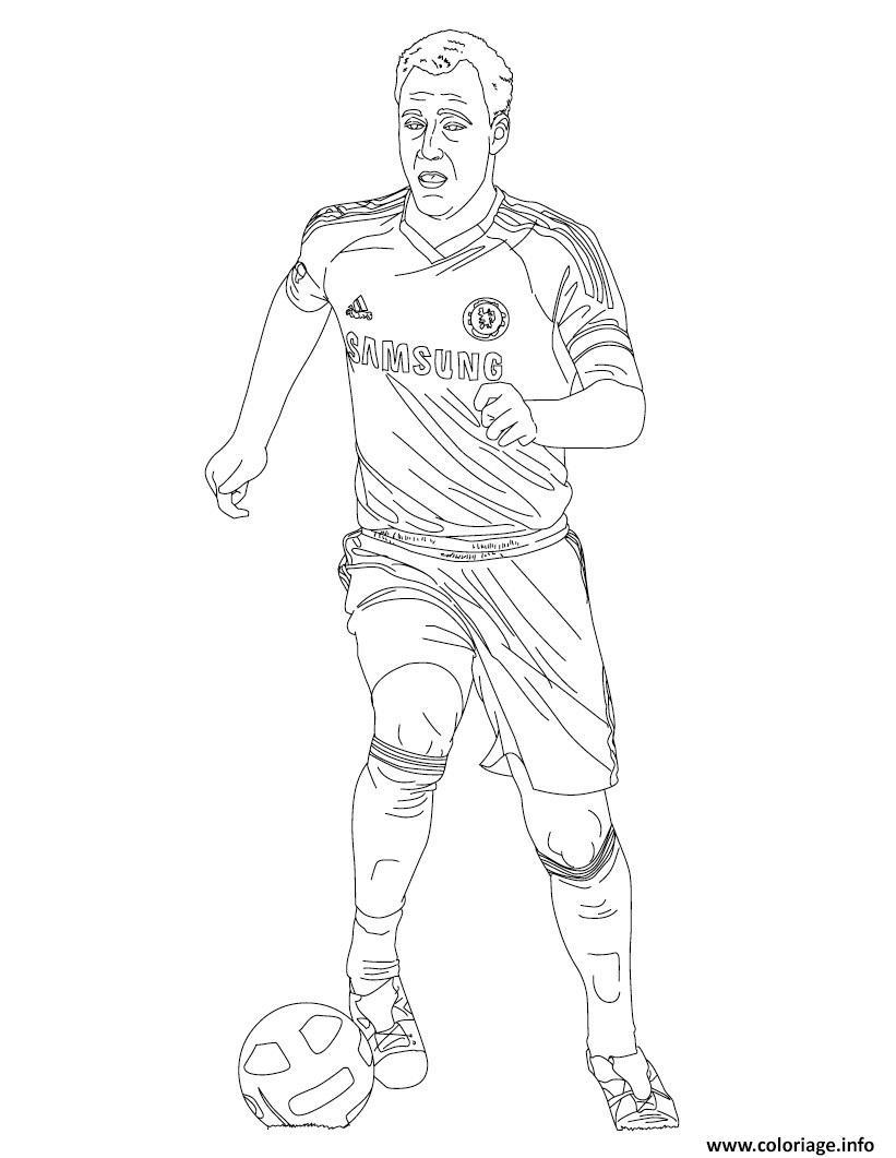 Coloriage john terry joueur de foot - Image de joueur de foot a imprimer ...