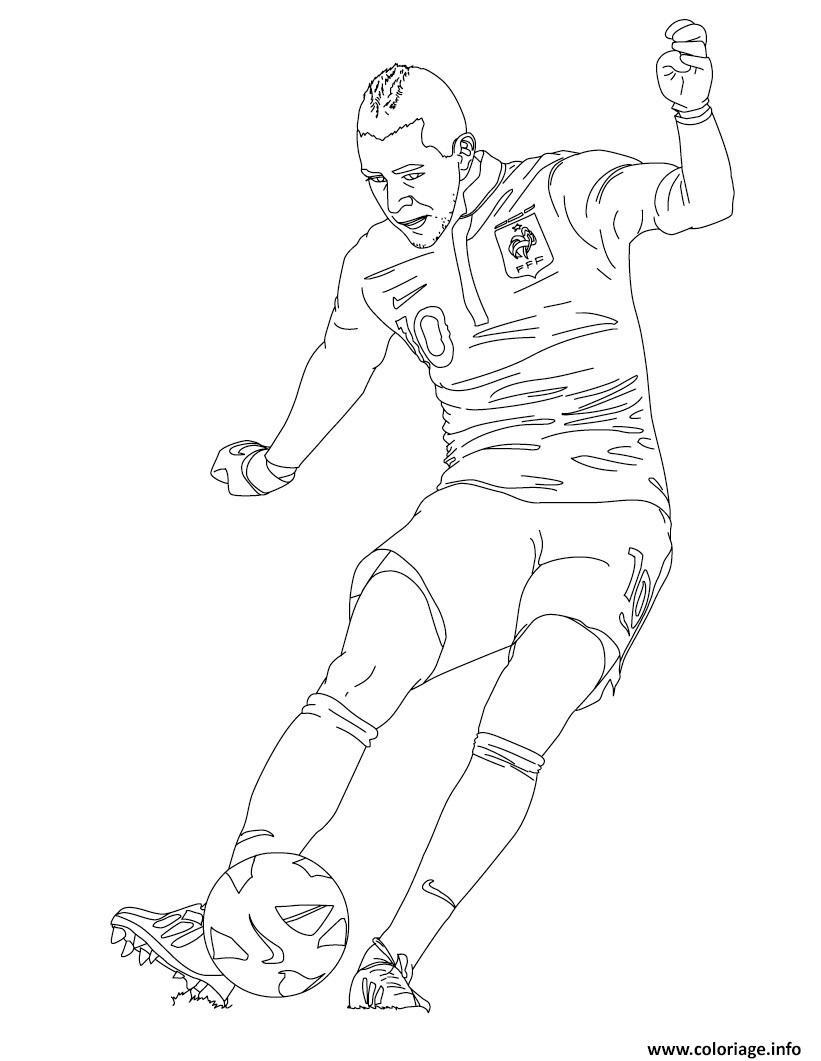 Coloriage karim benzema joueur de foot france dessin - Dessin de joueur de foot a imprimer ...