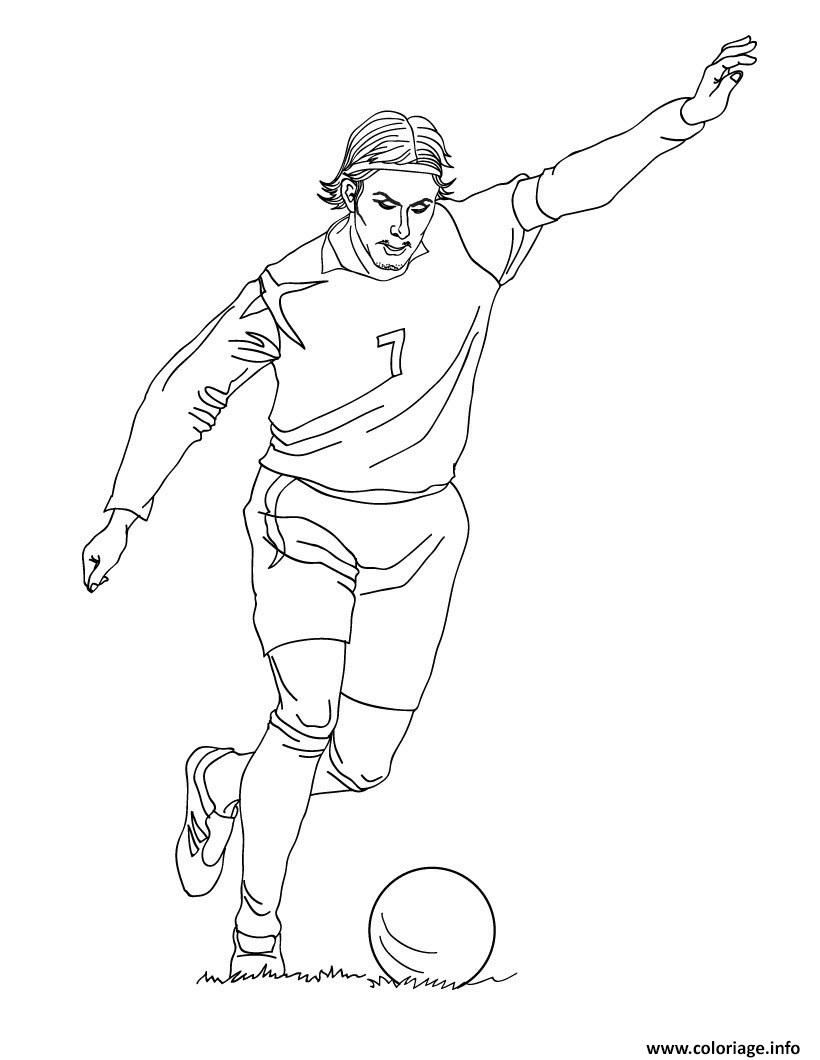 Coloriage David Beckham Joueur De Foot Jecoloriecom