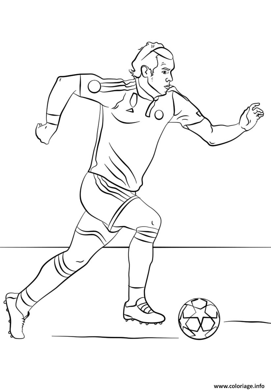 Coloriage Gareth Bale Foot Football dessin