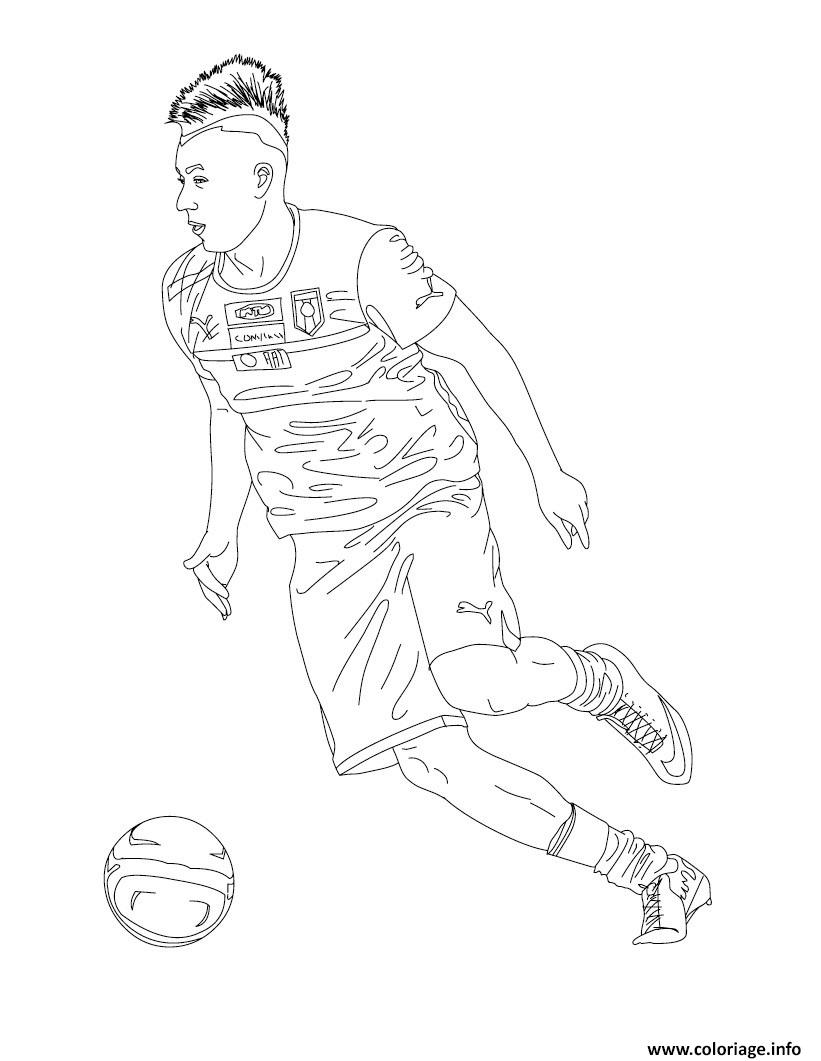 Coloriage stephan el shaarawy joueur de foot dessin - Dessins de football ...