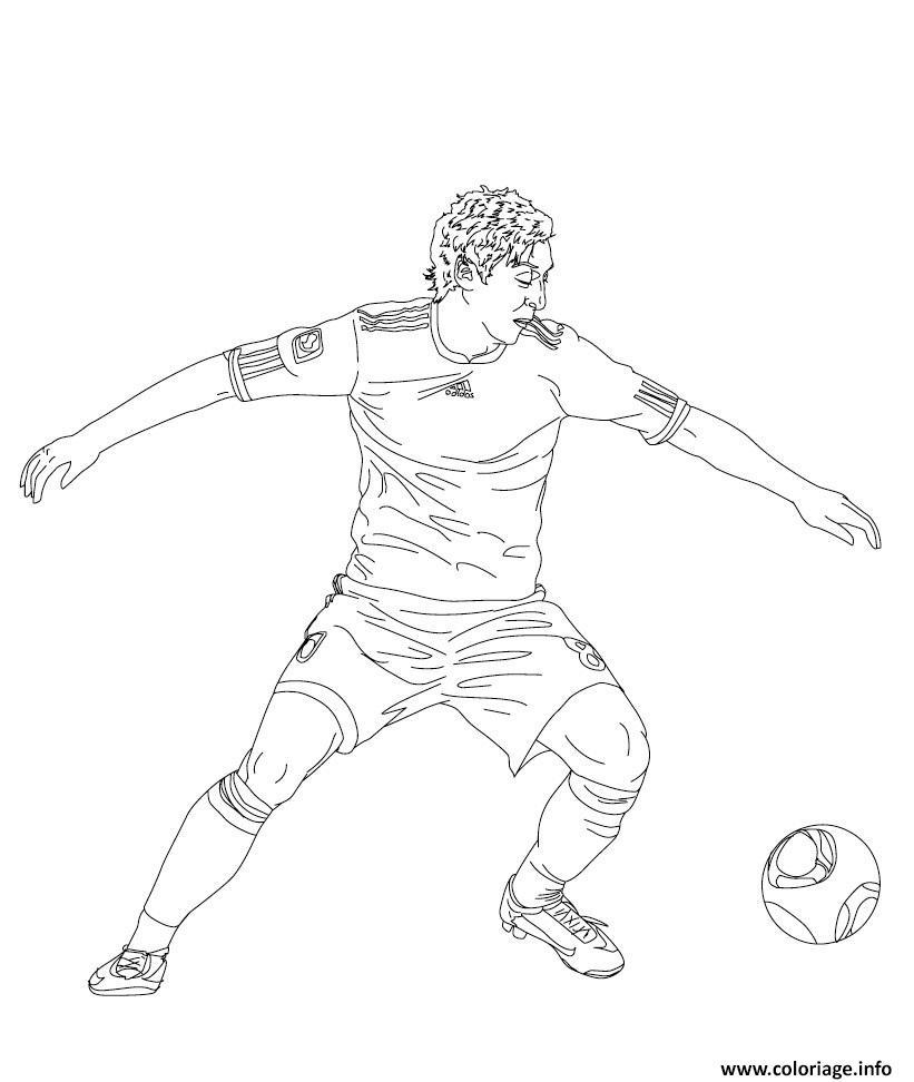 Coloriage joueurs de foot mesut ozil - Image de joueur de foot a imprimer ...