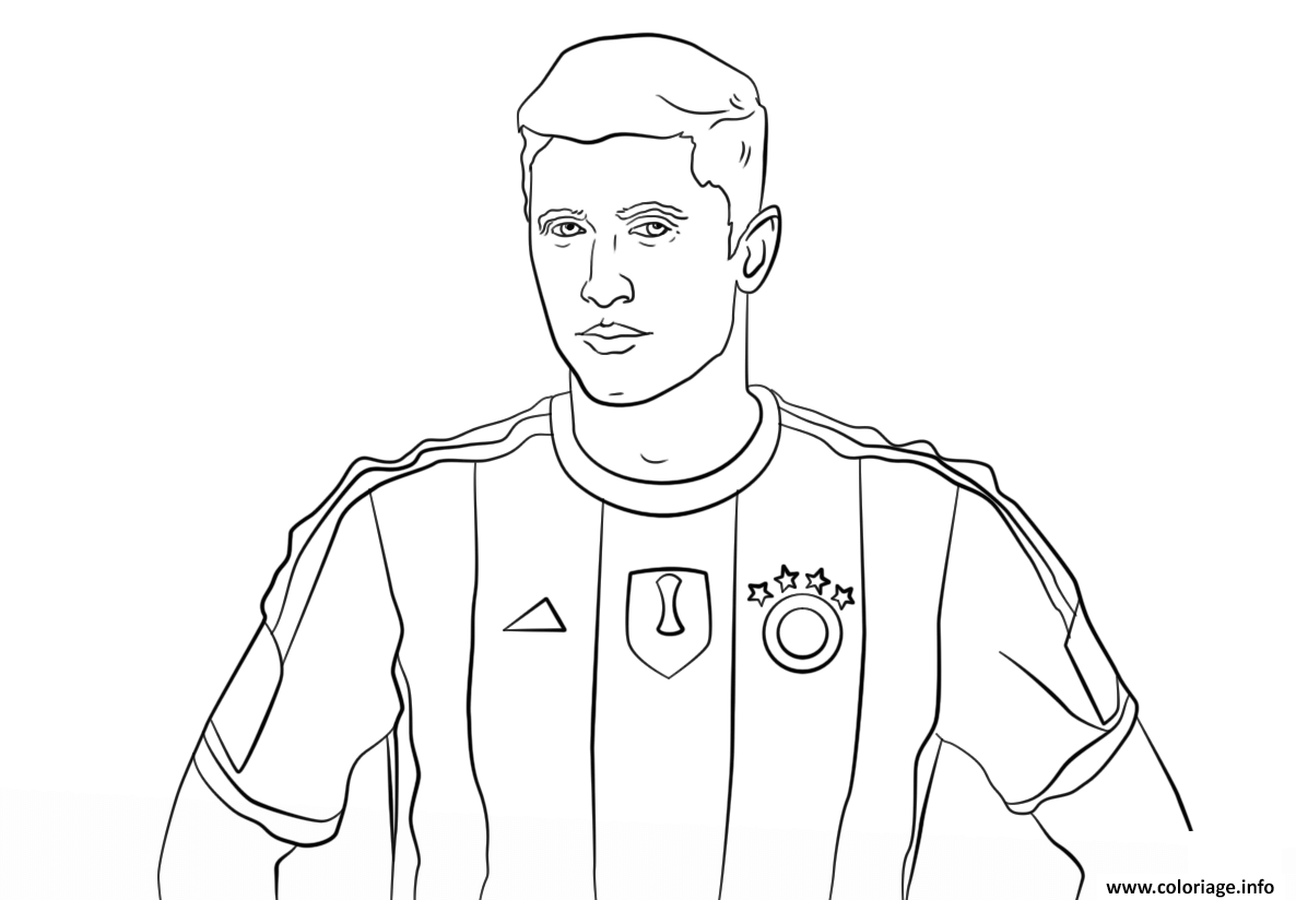 Coloriage robert lewandowski foot football - Dessin de foot a imprimer gratuit ...