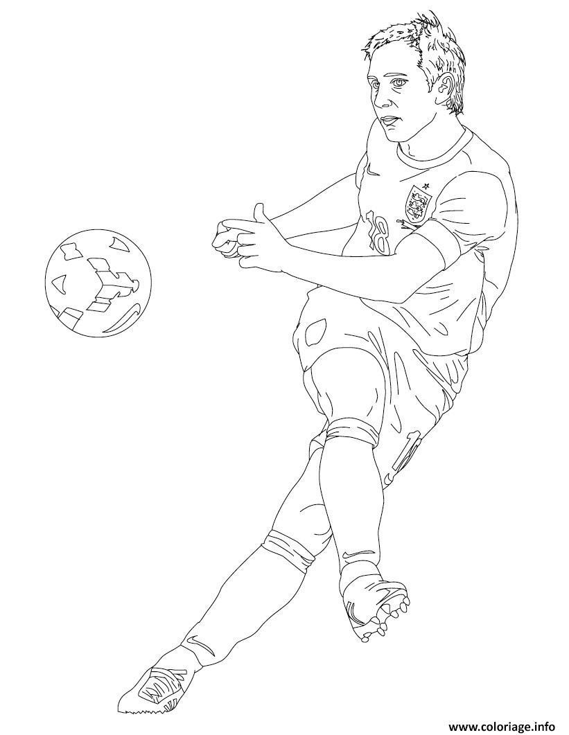 Coloriage Frank Lampard Joueur De Foot Dessin Foot à imprimer