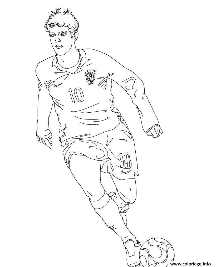 Coloriage kaka joueur de foot bresil - Image de joueur de foot a imprimer ...