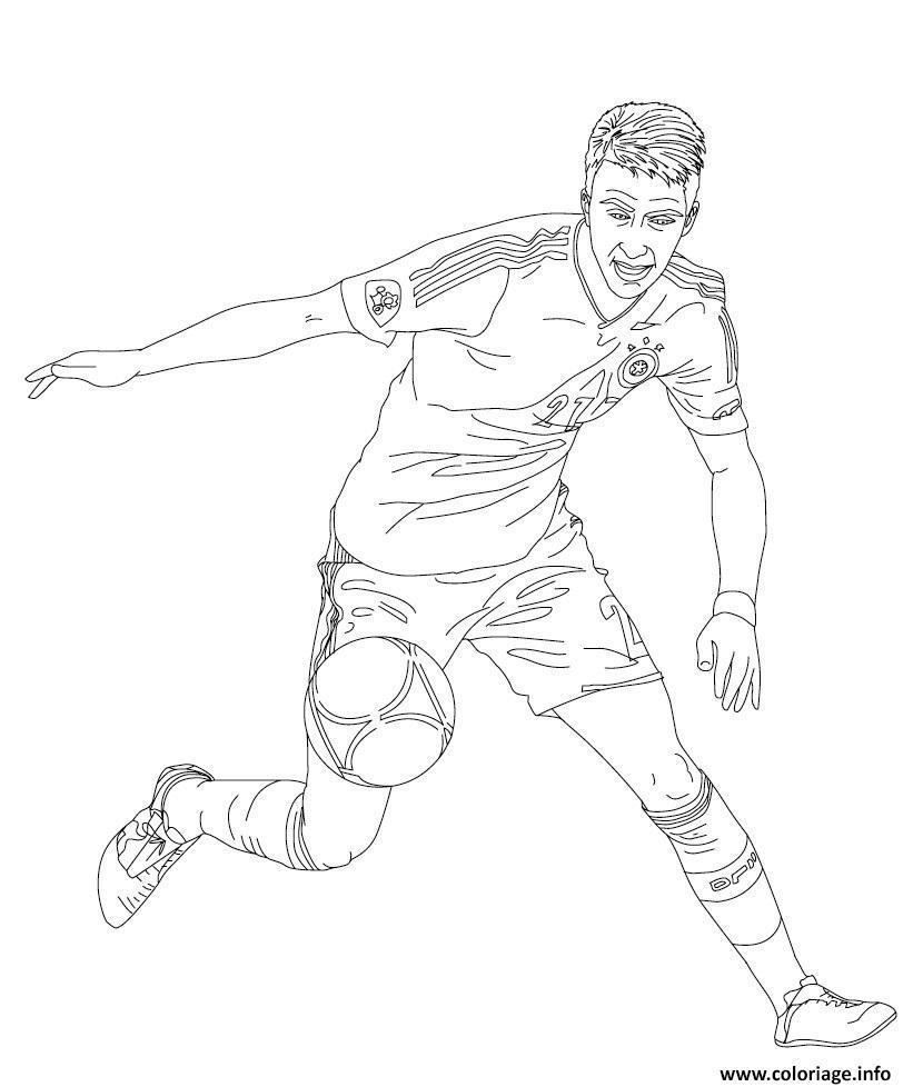 Coloriage marco reus joueur de foot - Image de joueur de foot a imprimer ...
