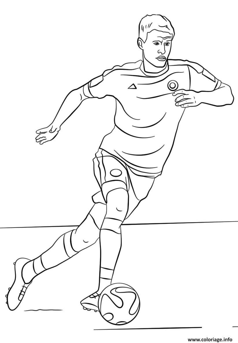 Coloriage Thomas Muller Foot Football Dessin à Imprimer