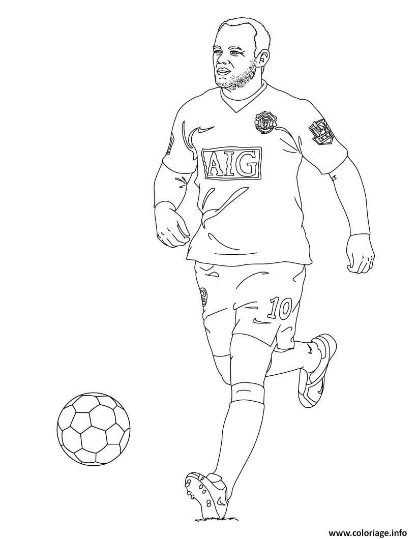 Coloriage wayne rooney football - Dessin a imprimer foot ...