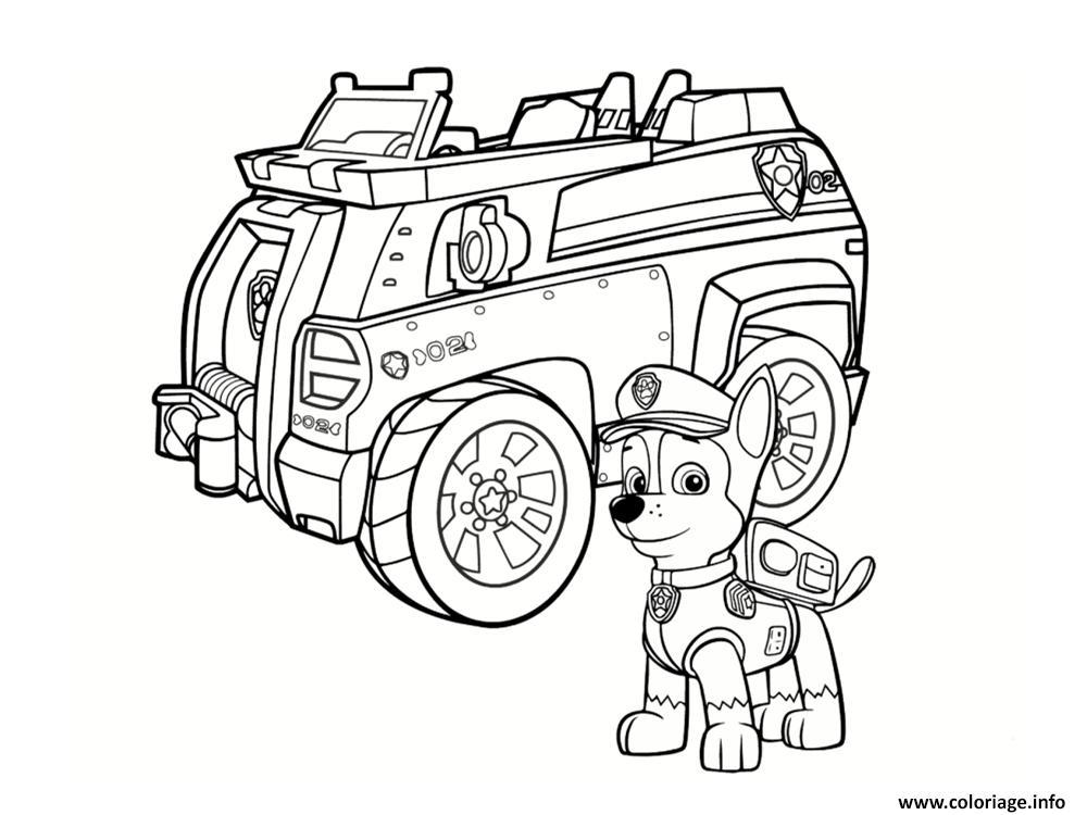 Coloriage Chase De Pat Patrouille Avec Son Camion