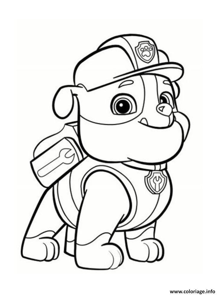 Coloriage ruben de pat patrouille portrait dessin - Pat patrouille telecharger ...