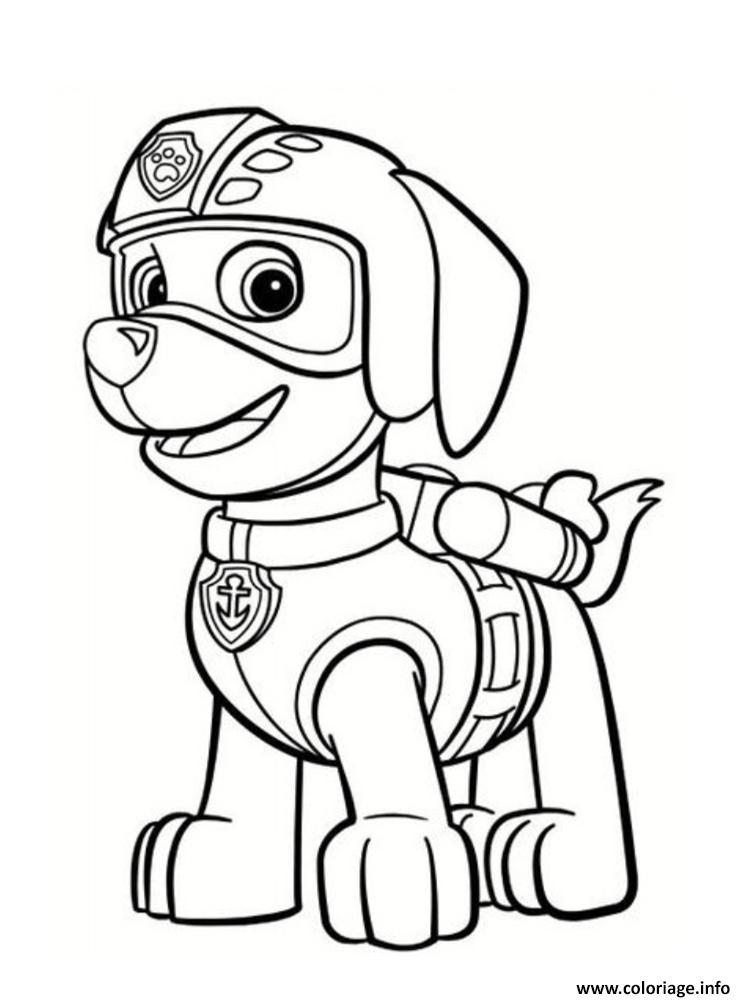 Coloriage zuma pat patrouille portrait dessin - Coloriage spiderman portrait ...