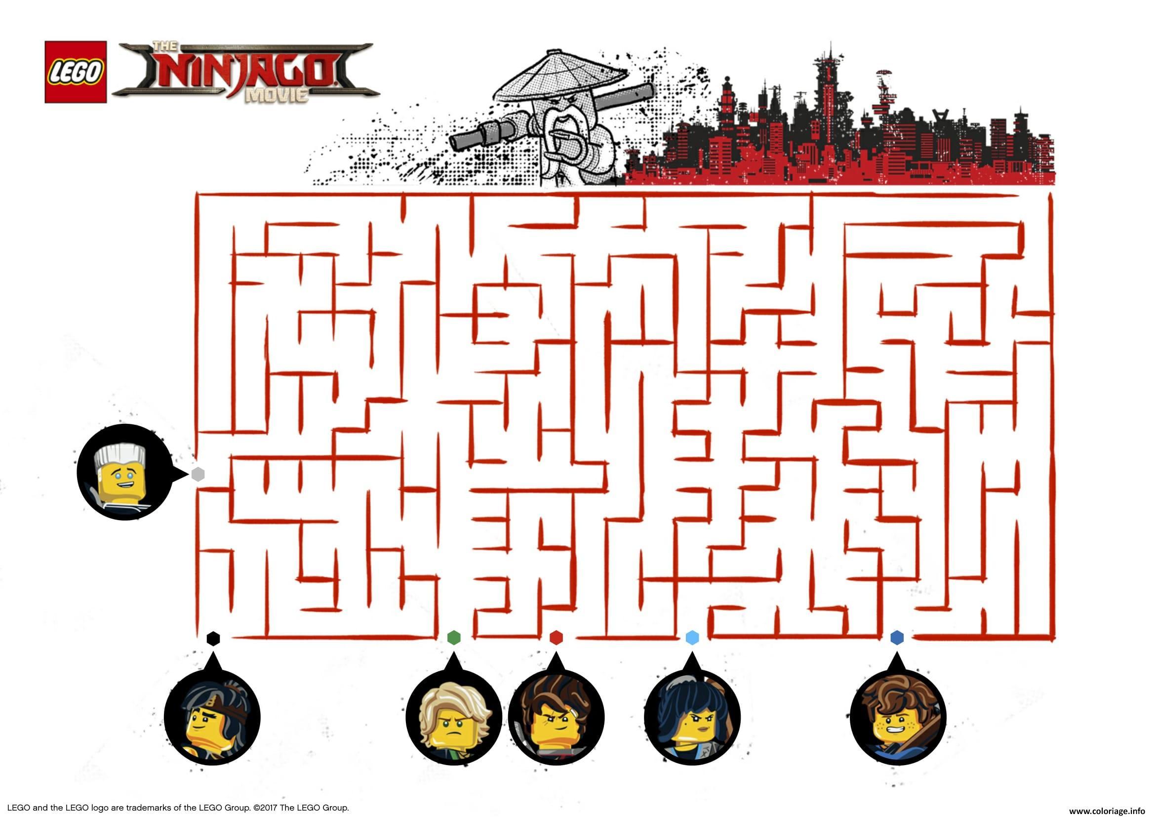 Coloriage jeu ninjago lego a imprimer dessin - Jeux de ninjago gratuit lego ...