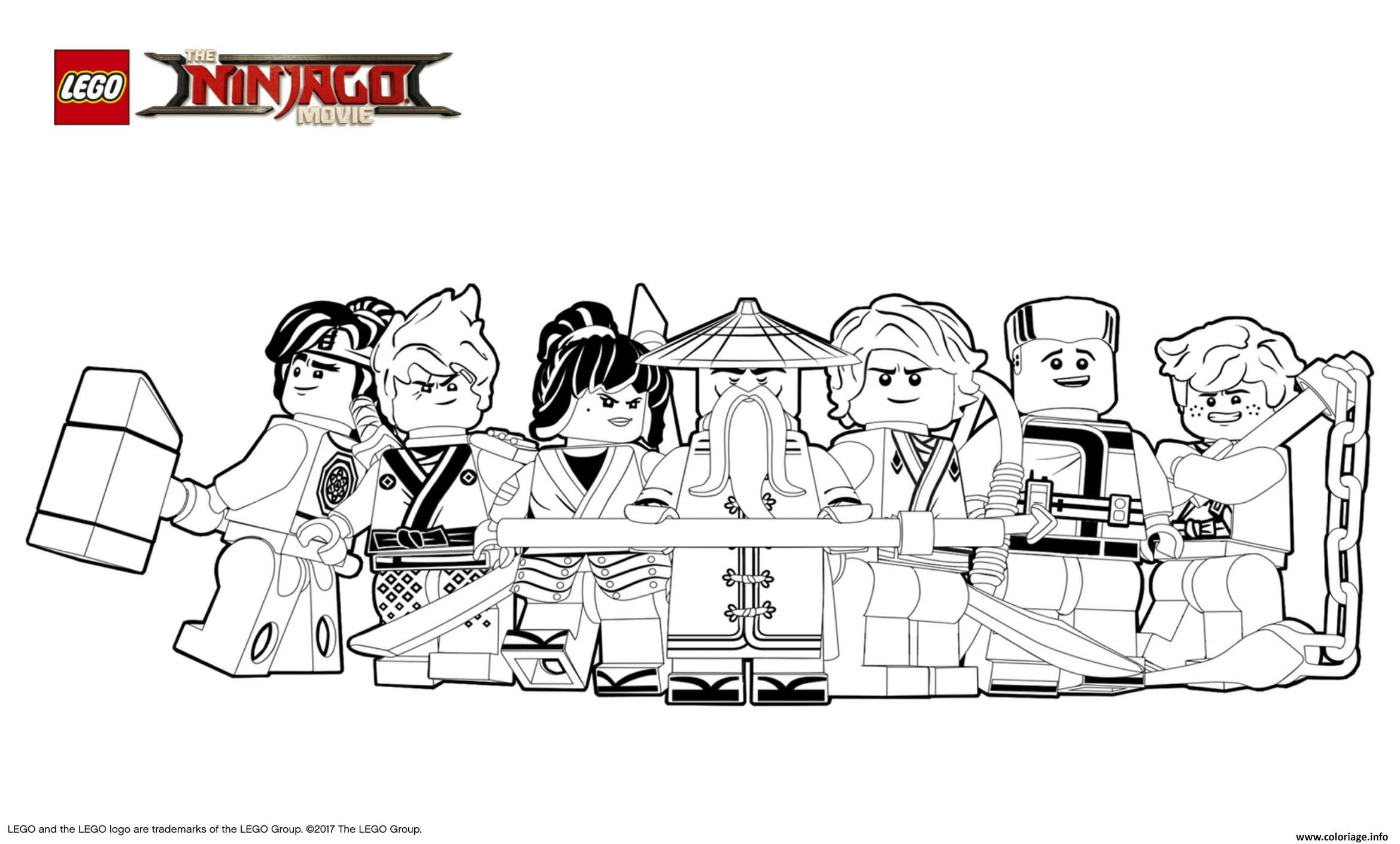 Coloriage lego ninjago le film gentils ninjagos dessin - Jeux de ninjago gratuit lego ...