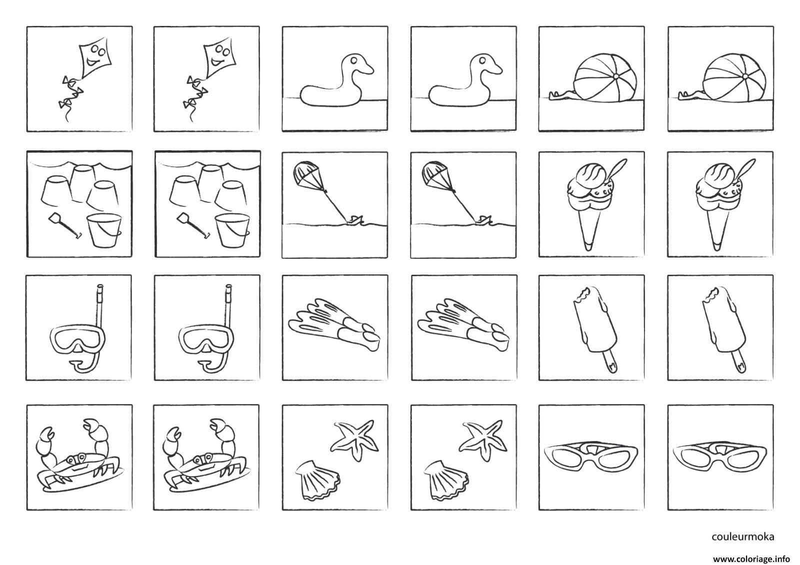 Coloriage jeu de memoire a imprimer colorier et jouer dessin - Jeux dessin gratuit ...