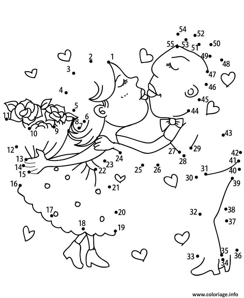 Coloriage points a relier deux amoureux jeux a imprimer dessin - Jeux dessin gratuit ...