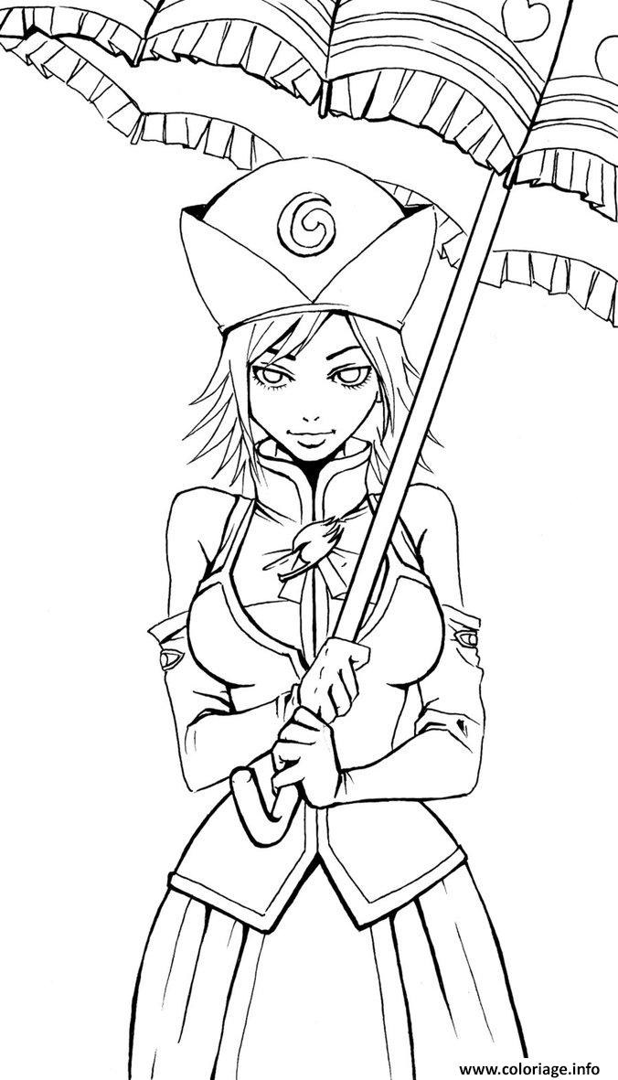 Coloriage fille fairy tail dessin - Fairy tail coloriage ...