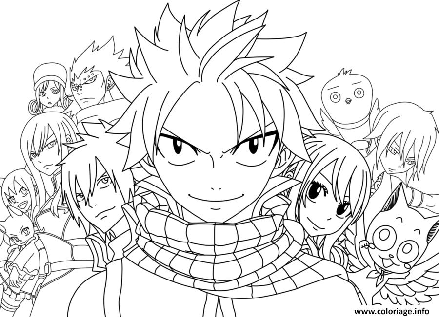 Coloriage fairy tail le film dessin - Dessin anime de fairy tail ...