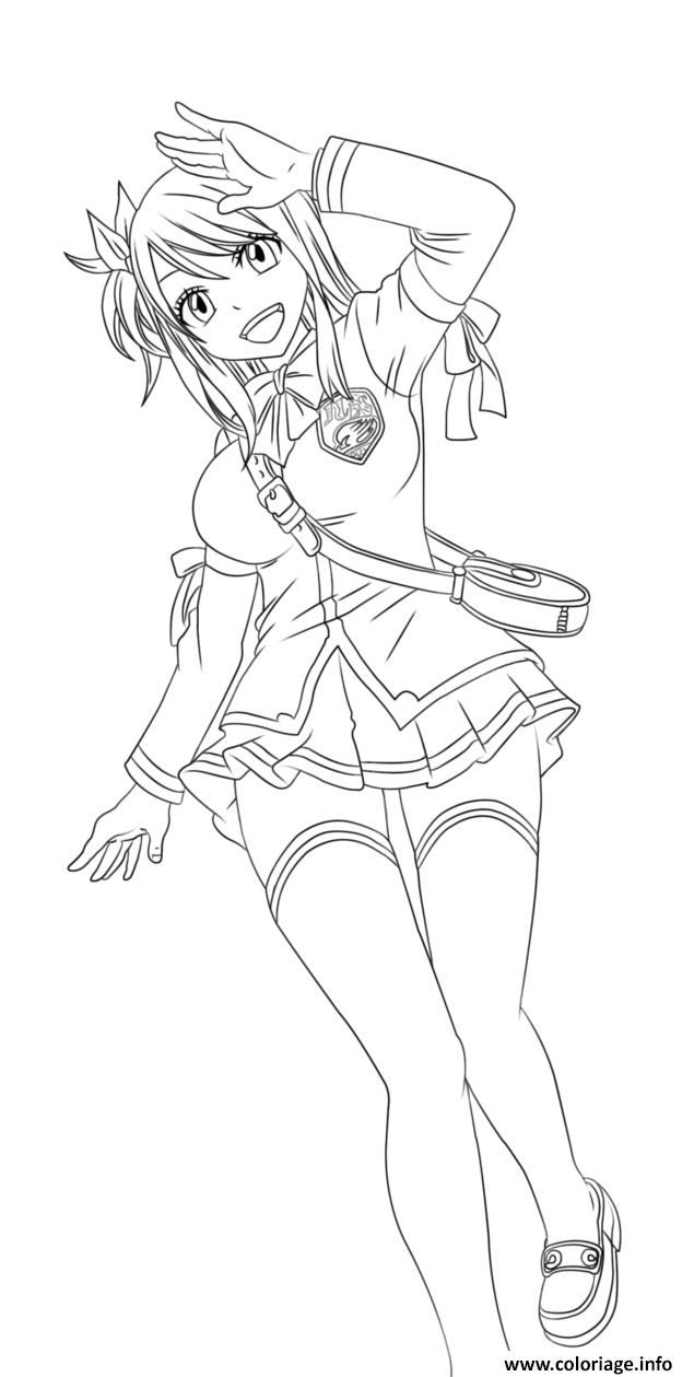 Coloriage fairy tail lucy by tobeyd