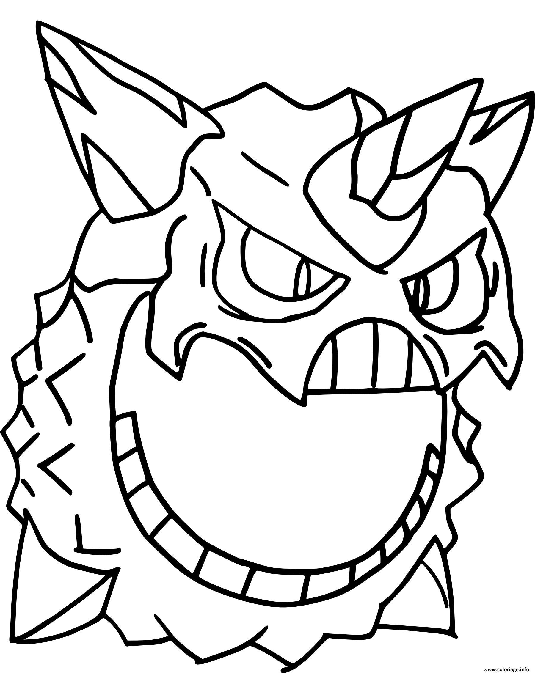 mega oniglali pokemon coloriage dessin