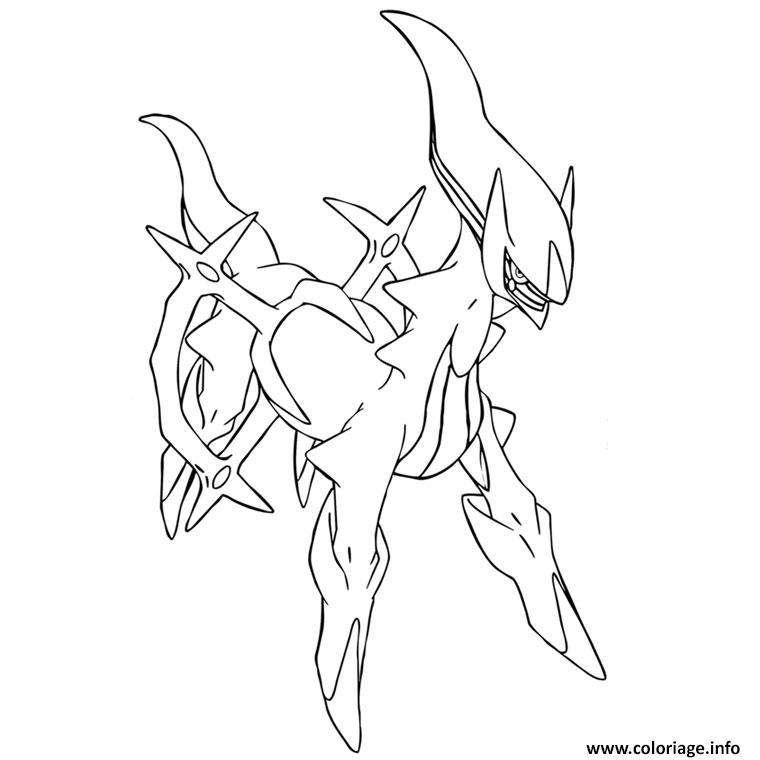 Dessin Arceus Pokemon Coloriage Gratuit à Imprimer