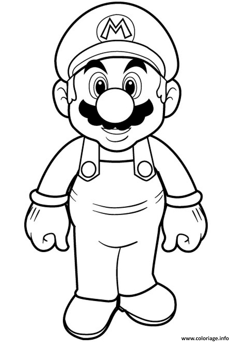 Coloriage super mario bros hd - Coloriage mario bross ...