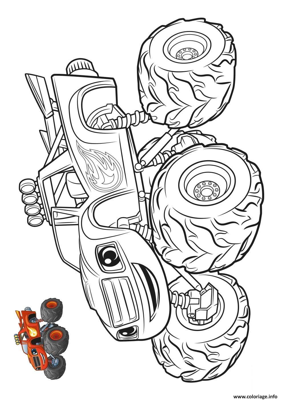 Coloriage Blaze Et Les Monsters Machines Voiture Jecolorie Com