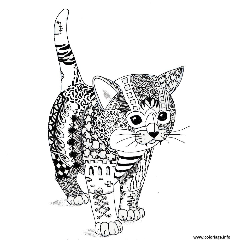 Coloriage chaton chat adulte mandala - Photo d animaux a imprimer gratuitement ...