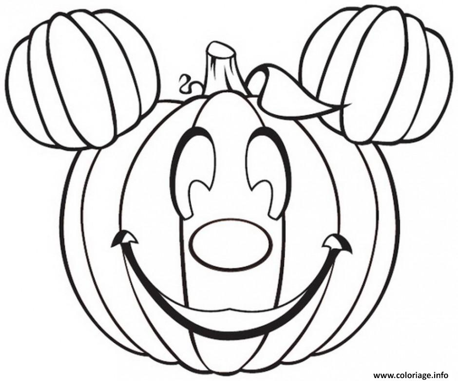coloriage citrouille halloween disney mickey dessin. Black Bedroom Furniture Sets. Home Design Ideas