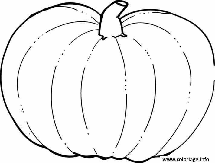 dessin citrouille halloween realiste coloriage