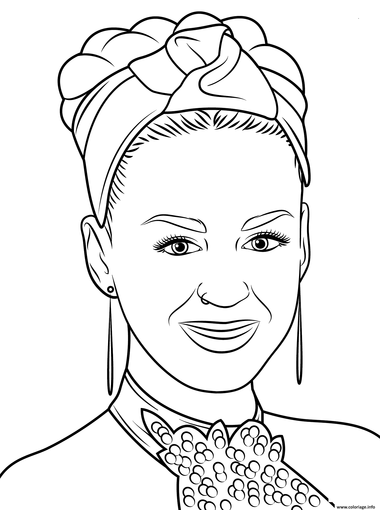 Coloriage Katy Perry Celebrite Star Jecolorie Com