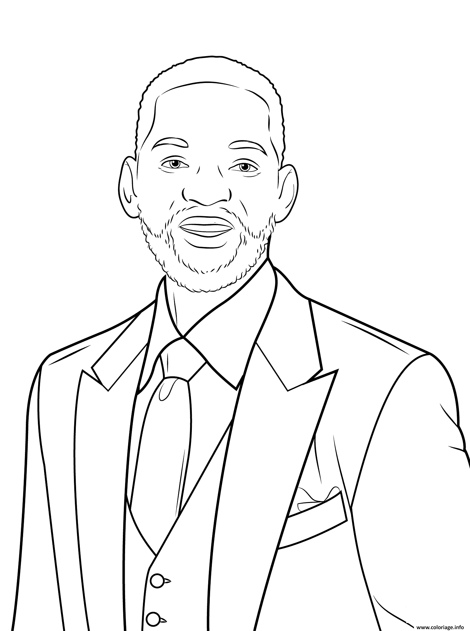 Kleurplaat Justin Bieber 2017 Coloriage Will Smith Celebrite Star Jecolorie Com