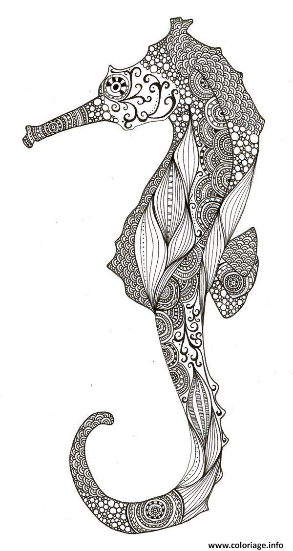 Dessin adulte ocean zentangle anti stress Coloriage Gratuit à Imprimer