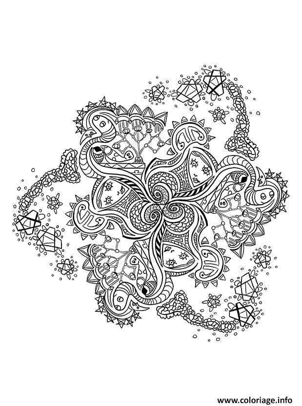 Coloriage Mandala Pattern Adulte Anti Stress Dessin à Imprimer