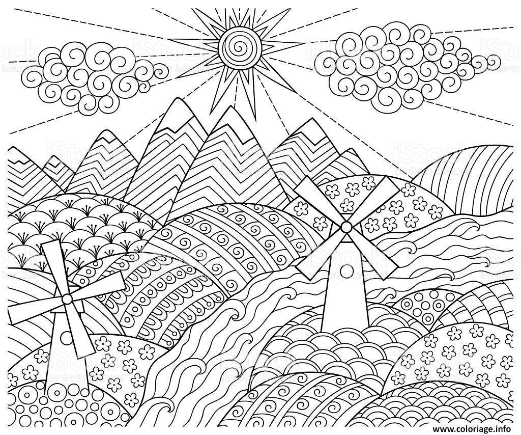 Coloriage Doodle Pattern Fun World Dessin