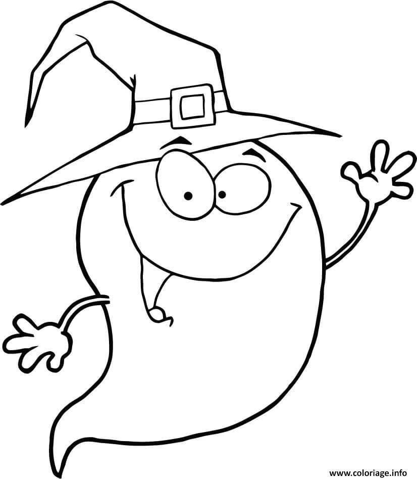 Coloriage fantome halloween personnage amusant dessin - Coloriage fantome halloween ...