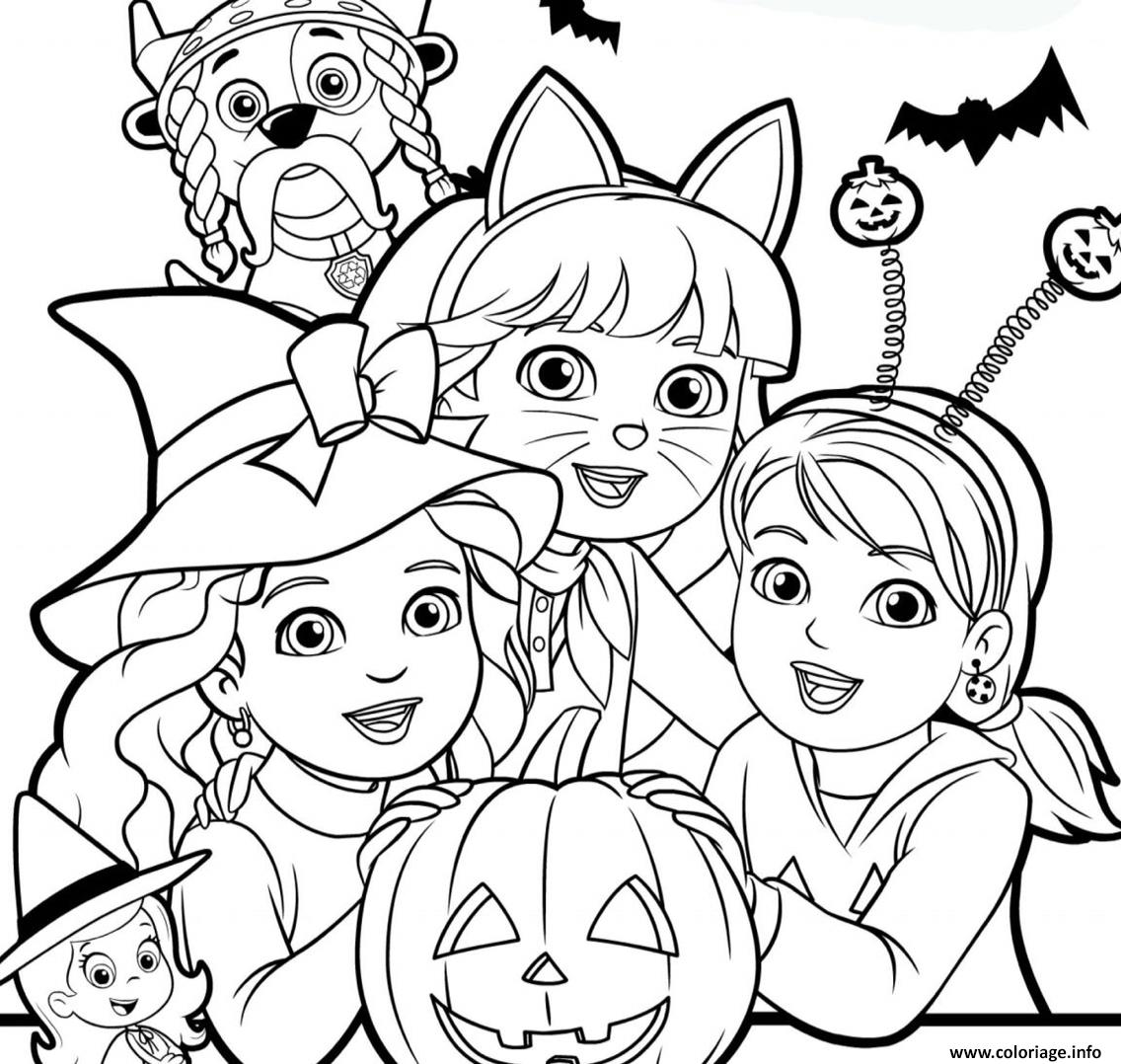 halloween pat patrouille dora exploratrice citrouille coloriage dessin