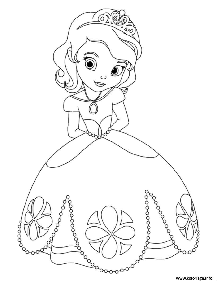 Coloriage Gratuit Princesse Sofia.Coloriage Princesse Sofia Timide Lors Du Bal Jecolorie Com