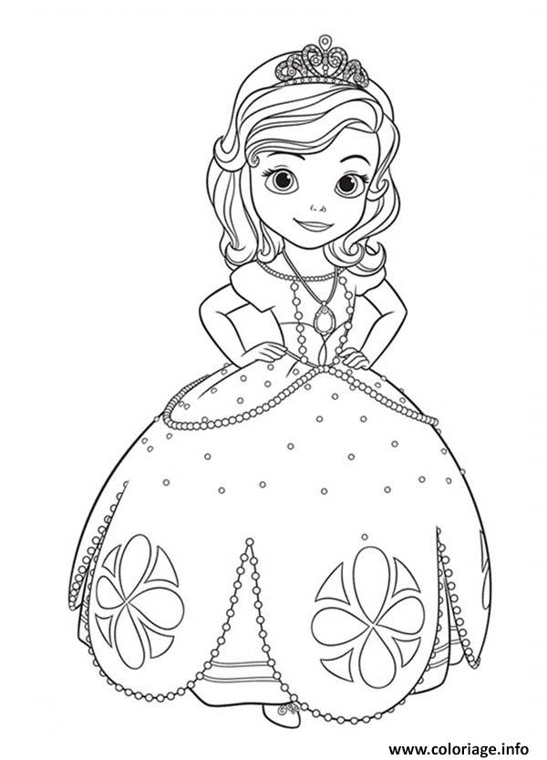 Coloriage Princess Sofia the First Going to Dance - JeColorie.com