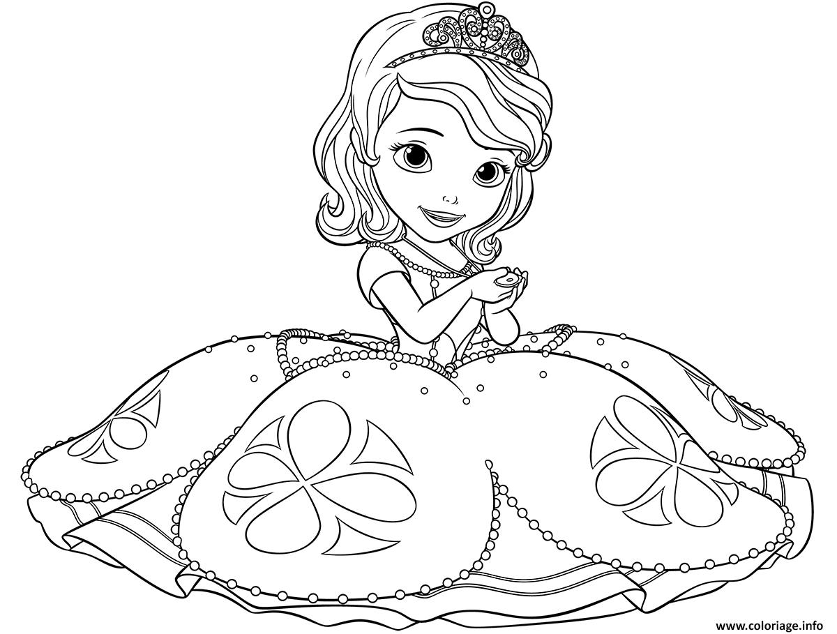 Coloriage Princesse Visage.Coloriage Princesse Sofia Dessin