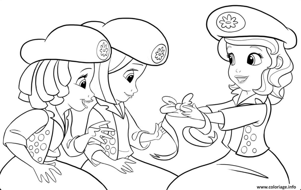 Coloriage Princesse Sofia Et Le Ruban Jecolorie Com