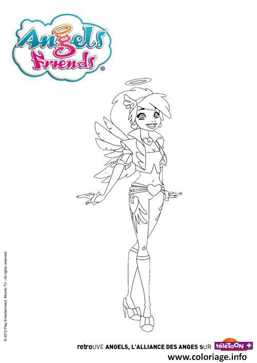 Dessin angels friends dolce Coloriage Gratuit à Imprimer