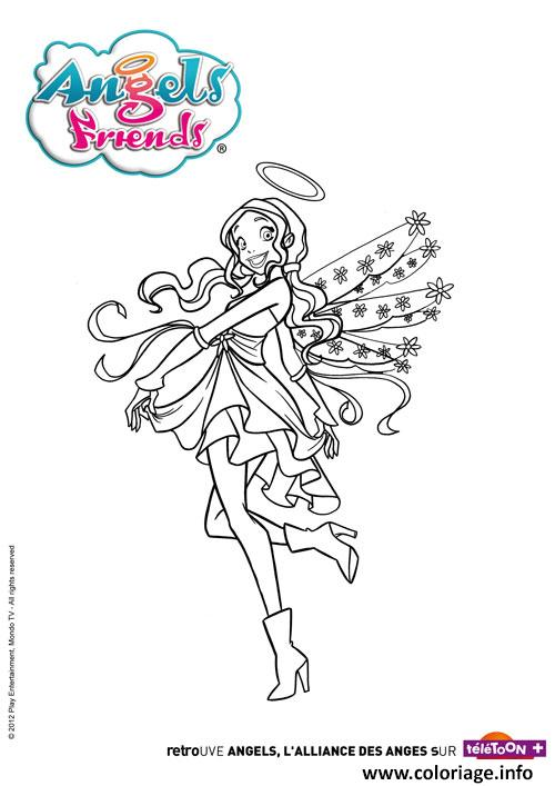 Coloriage Angels Friends Urie Robe Dessin à Imprimer