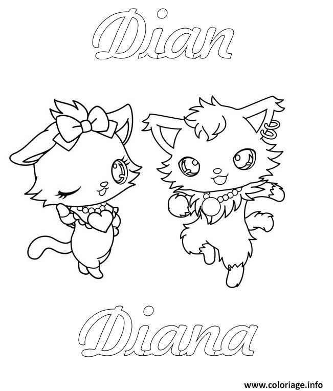 Coloriage Jewelpet Dian Diana Dessin Jewelpet à imprimer