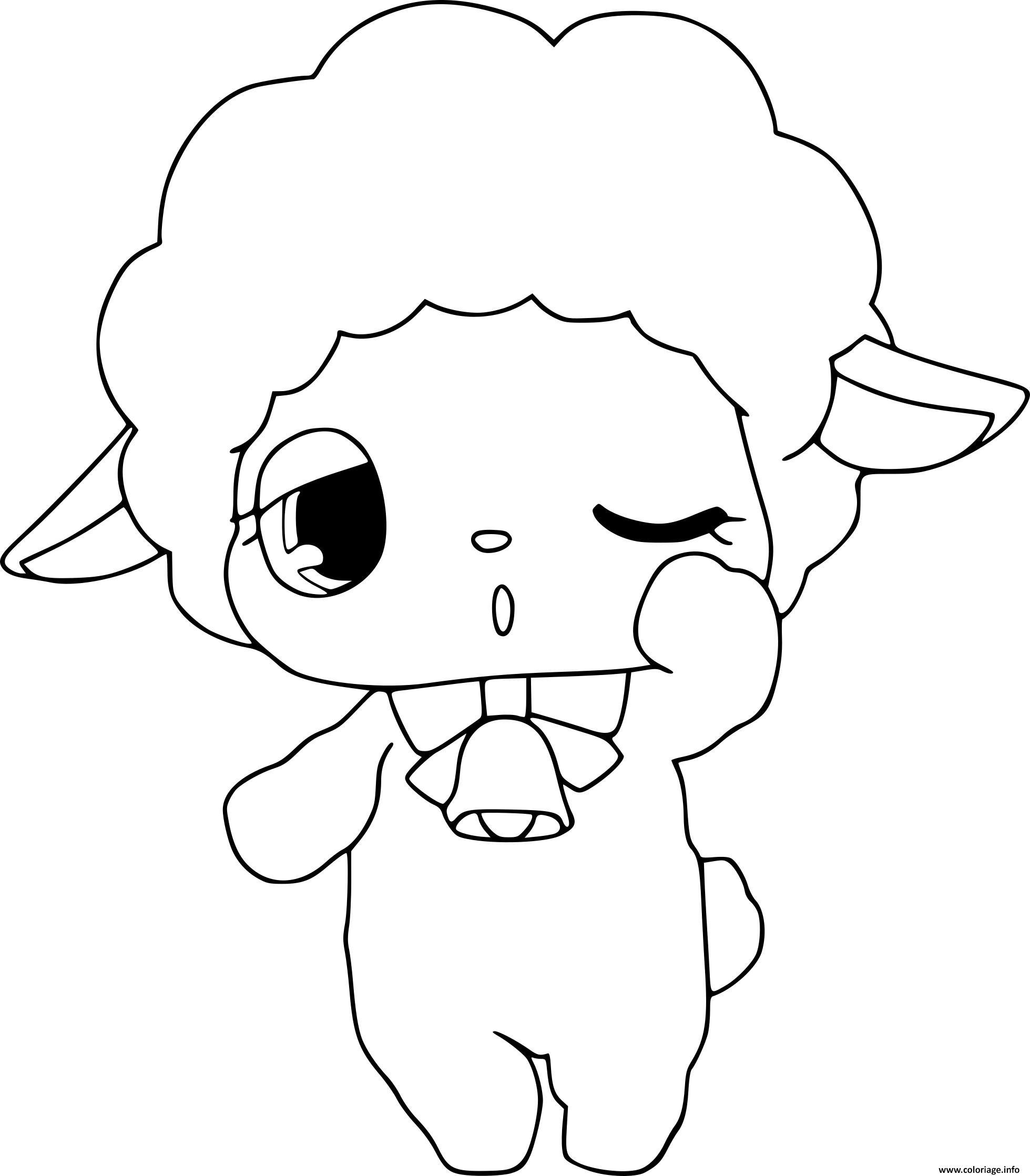 Coloriage jewelpet mouton dessin - Mouton en dessin ...